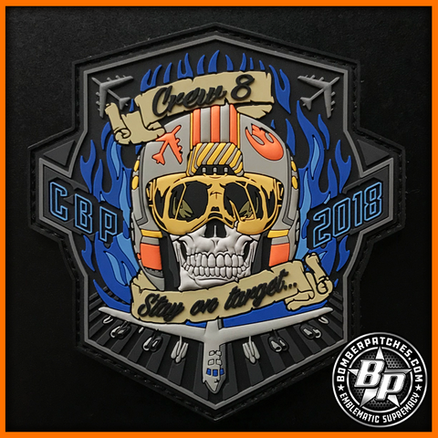 20th Expeditionary Bomb Squadron Crew 8 PVC Patch, 2018 CBP Deployment