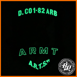 Delta Company 1-82 ARB Blue Wolves, Ft. Bragg, NC, Full Color / Glow in the Dark