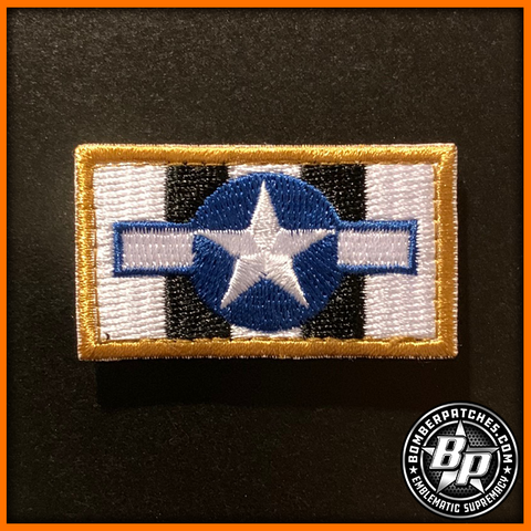 Invasion Stripes D-Day 75th Anniversary Commemorative Tab Patch