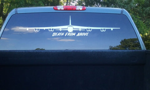 Death From Above B-52 Front View Vinyl Decal