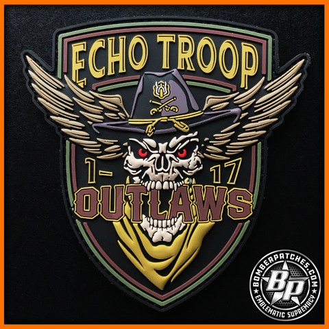 "1-17 Air Cavalry Squadron Echo Troop ""Outlaws"", Ft Bragg, NC, US Army, Subdued"