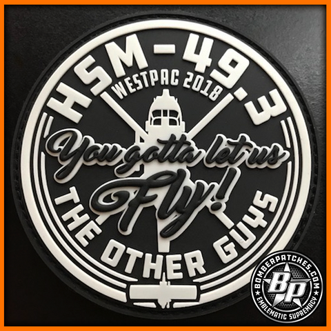 HSM 49 DET 3 PVC PATCH USS STERETT WESTPAC 2018 MH-60R SEAHAWK Glow in the Dark