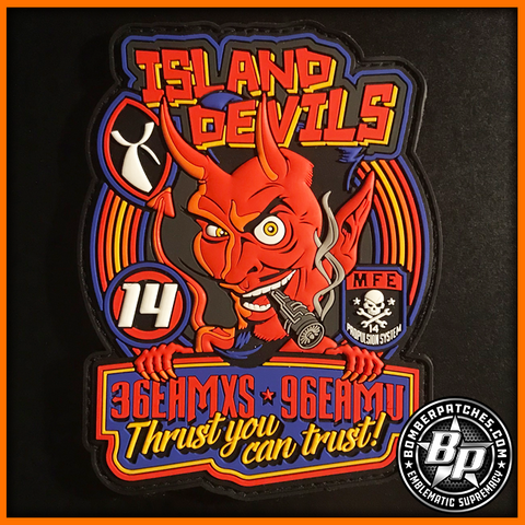 "36TH EXPEDITIONARY AIRCRAFT MAINTENANCE SQUADRON, 96 EAMU 2018 2019 CBP DEPLOYMENT PATCH ""ISLAND DEVILS"""