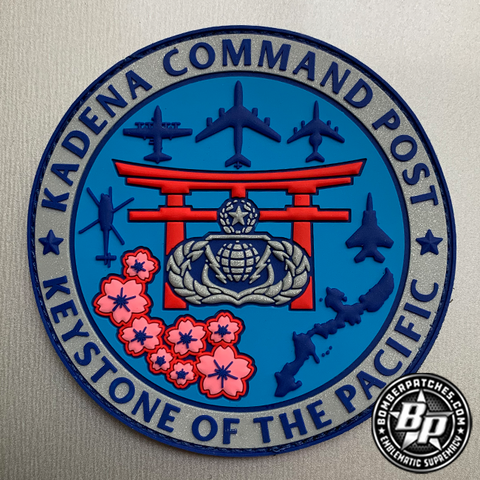 "Kadena Command Post ""Keystone of the Pacific"" PVC Patch, full color"