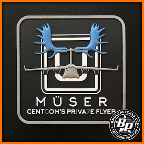 "816th Expeditionary Airlift Squadron ""Muser"" Patch, C-17 Globemaster III, Full Color"