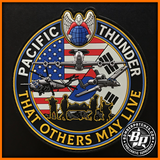 "2018 Pacific Thunder Exercise PVC Patch, SERE, E-3, UH-60, A-10 ""That Others May Live"""