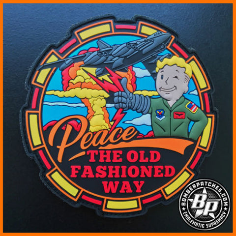PEACE THE OLD FASHIONED WAY FALLOUT MORALE PVC PATCH B-52 STRATOFORTRESS UPDATE