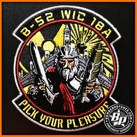 "Weapons School WIC 18A Class Patch, ""Pick Your Pleasure"""