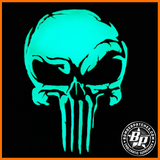 Punisher Inspired Skull PVC Morale Patch, 69th Bomb Squadron, Glow in the dark