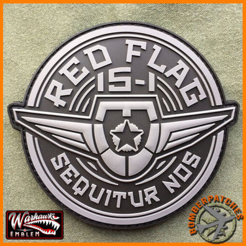 RED FLAG 15-1 B-2 BOMBER 509TH BOMB WING PVC PATCH, NELLIS AFB