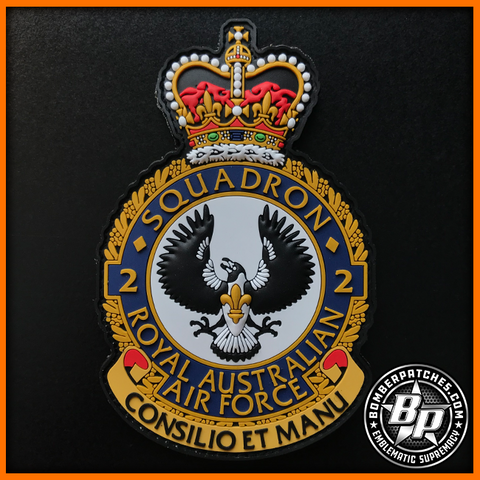 2 Squadron Crest Patch, PVC, E-7A Wedgetail, RAAF Base Williamtown