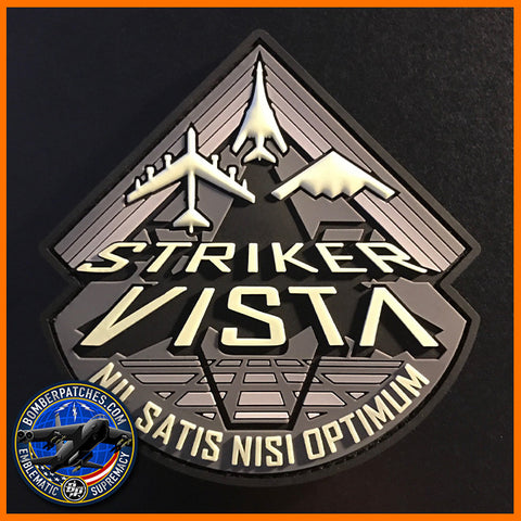 STRIKER VISTA B-1 B-2 B-52 PROGRAM PVC PATCH, Glow in the Dark Version
