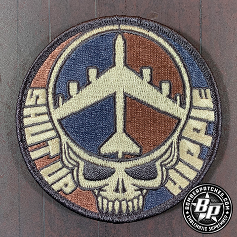 B-52 SHUT UP HIPPIE COLOR SUBDUED PATCH