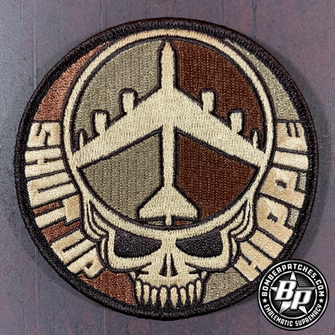B-52 SHUT UP HIPPIE DESERT SUBDUED PATCH