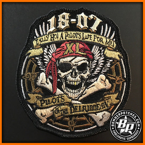 Specialized Undergraduate Pilot Training Class 18-07 Patch Laughlin AFB T-6 T-38