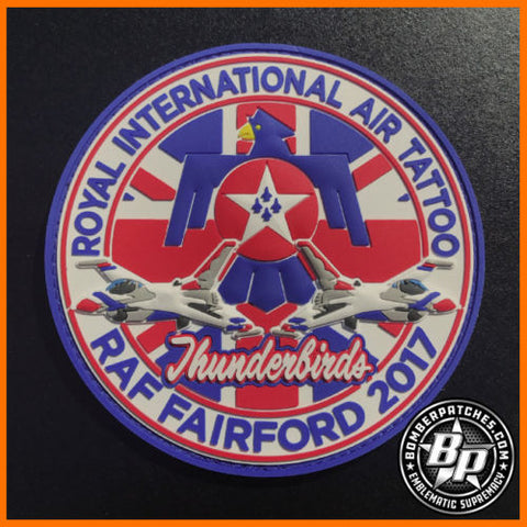 USAF Thunderbirds Royal International Air Tattoo RIAT 2017 Patch RAF Fairford