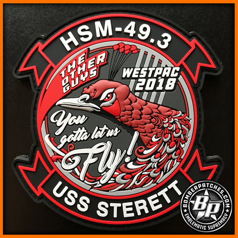HSM 49 DETACHMENT 3 WESTPAC 2018 DEPLOYMENT PVC PATCH USS STERETT MH-60R SEAHAWK