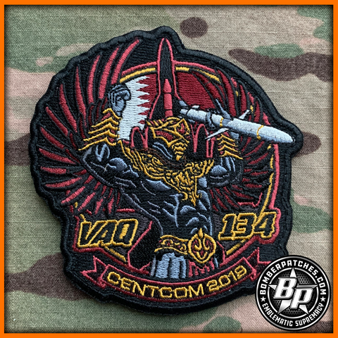 VAQ-134 CENTCOM 2019 Deployment Patch, Embroidered, Full Color