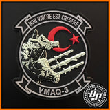 "VMAQ-3 ""MOON DOGS"" DEPLOYMENT PATCH Glow in the Dark PVC EA-6B Prowler"