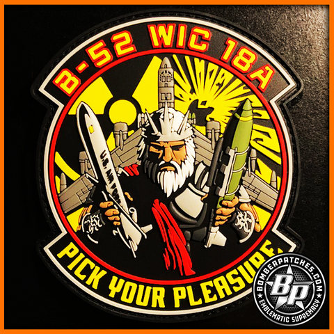 "B-52 Weapons School WIC 18A Class Patch, ""Pick Your Pleasure"", PVC"