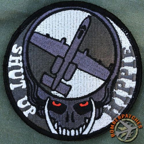 Dead Head Shut Up Hippie A-10 Warthog Patch