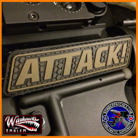 ATTACK! PVC Tab Patch, For Bug-Out Bag, Tactical Cap & Gear