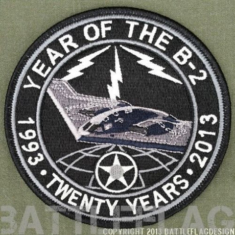 YEAR OF THE B-2 20TH ANNV PATCH UNOFFICIAL