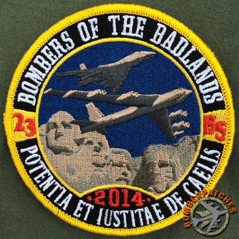 "23d Bomb Squadron Ellsworth AFB ""Deployment"" Patch 2014"