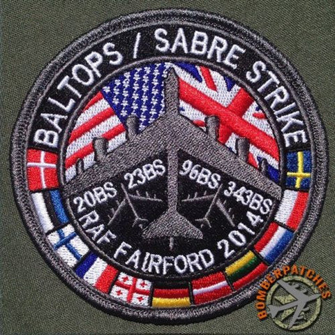 BALTOPS / SABRE STRIKE JOINT PATCH RAF FAIRFORD