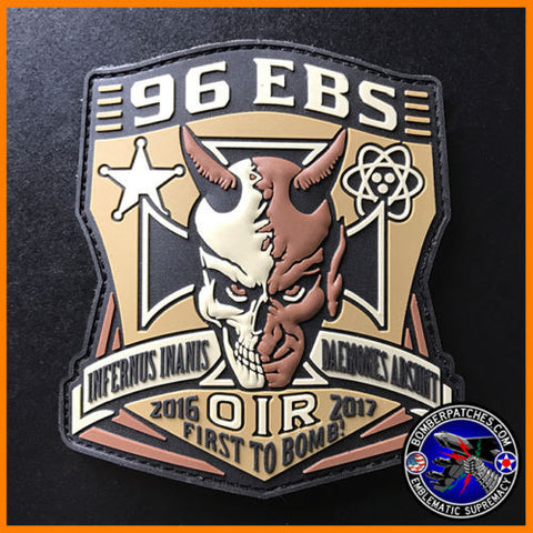96th Expeditionary Bomb Sq Deployment 2016 Patch Operation Inherent Resolve B-52