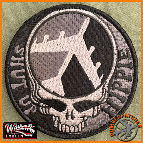 Tactical Dead Head Shut Up Hippie B-52 Morale Patch
