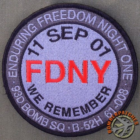 93d Bomb Squadron FDNY Sept 11 Nose Art Series Patch