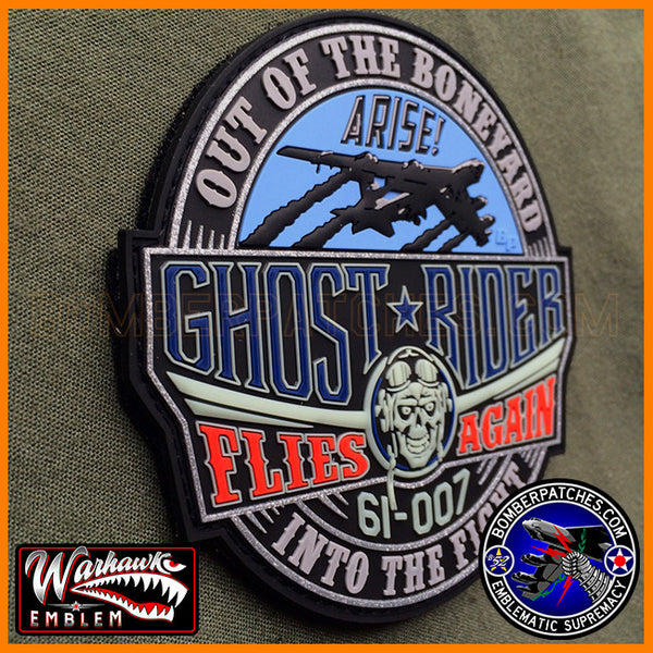 B 52 Stratofortress Ghost Rider Pvc Tribute Patch Bomber