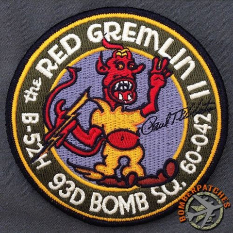 The Red Gremlin II, 93d Bomb Squadron Nose Art Series Patch