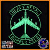 B-52 HEAVY METAL BOMBER CREW PVC PATCH, BLACK AND WHITE