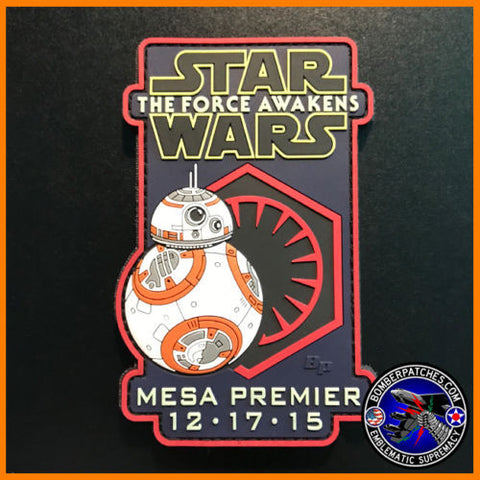 "STAR WARS ""THE FORCE AWAKENS"" EP. 7 MESA PREMIER PVC PATCH BB-8 GLOW IN THE DARK"