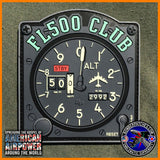 B-52 FLIGHT LEVEL 500 CLUB PVC PATCH - GLOW IN THE DARK, BOMBER PATCHES ORIGINAL