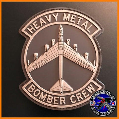 PVC HEAVY METAL BOMBER CREW PATCH, B-52, Desert Subdued