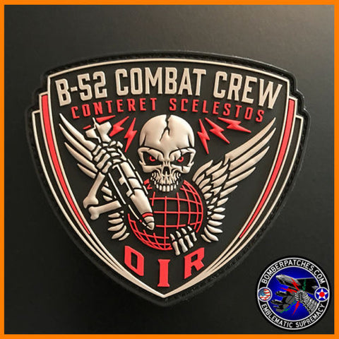 96TH BOMB SQUADRON B-52 STRATOFORTRESS PVC COMBAT CREW PATCH, OPERATION INHERENT RESOLVE