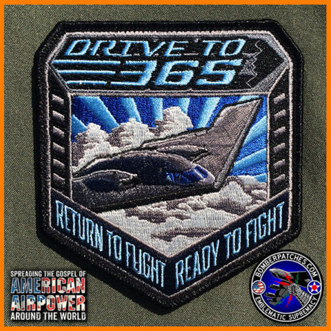 "B-2 Spirit Stealth Bomber ""DRIVE TO 365"" Northrup Grumman Initiative Patch"