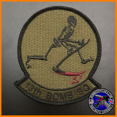 13th Bomb Squadron Olive Drab Subdued Squadron Patch
