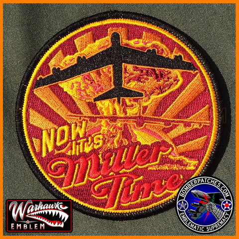"B-52 Stratofortress ""Now It's Miller Time"" Morale Patch"