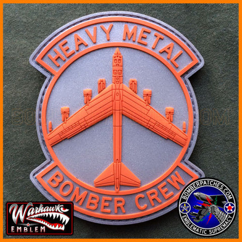HEAVY METAL BOMBER CREW PVC PATCH, 49th TEST SQ COLORS