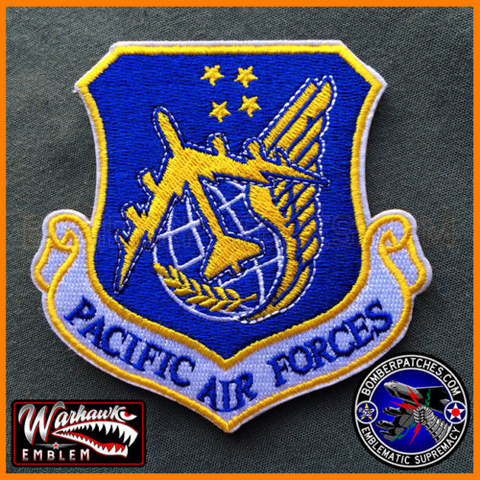 Pacific Air Forces PACAF Command Patch, B-52 Version 23d Bomb Sq, Andersen AFB