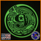 USN HSM-35 MAGICIANS Det 9 MH-60R Glow in the Dark PVC PATCH NAS North Island