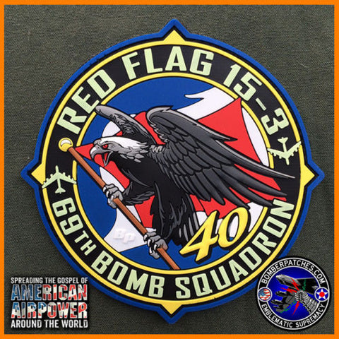 69th Bomb Squadron Red Flag 15-3 PVC Patch