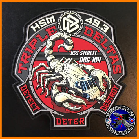 HSM-49 Triple Deltas PVC Patch MH-60R USS Sterett DDG 104 USN Glow in the Dark