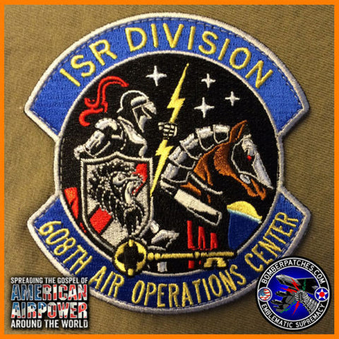 608TH AIR OPERATIONS ISR INTEL SURVEILLANCE RECON DIVISION PATCH BARKSDALE AFB