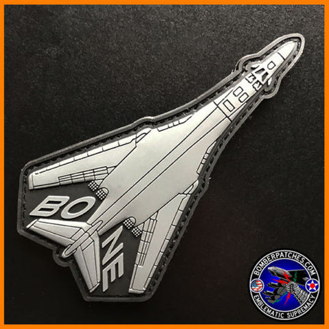 B-1 BONE PVC Morale Patch 9th 28th 34th 37th 345th Bomb Squadrons Gunship Gray
