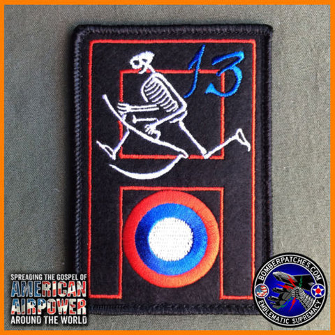 13th Bomb Squadron Oscar Heritage Felt Patch